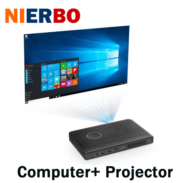nierbo mini led projector 4k portable for business windos 10 support