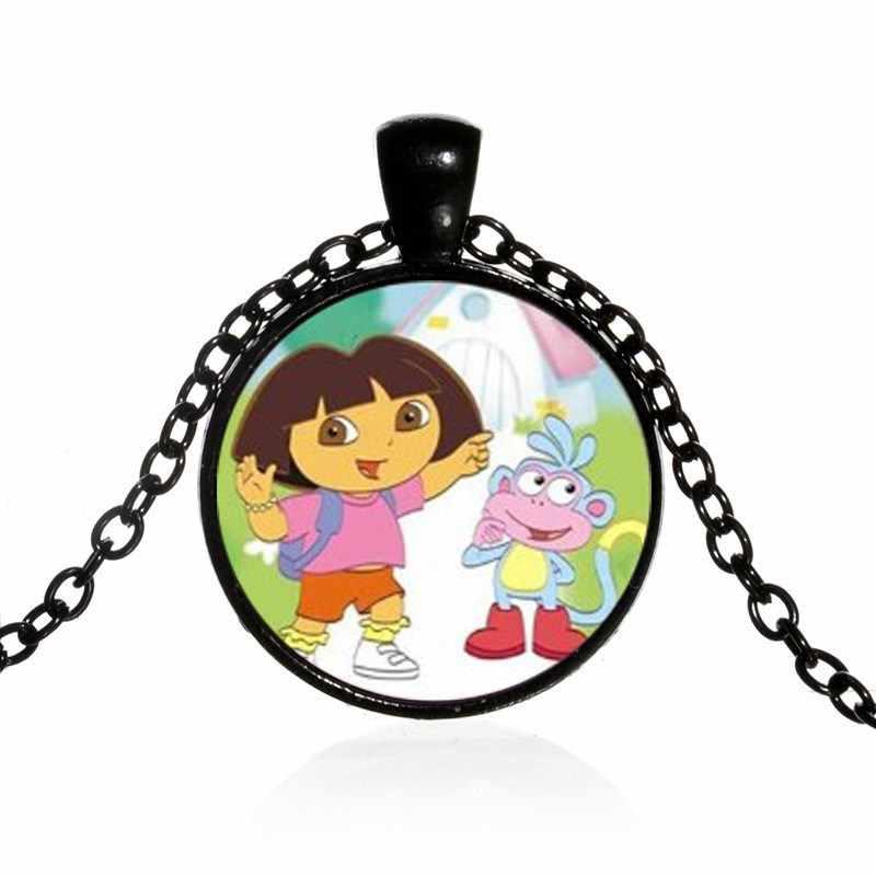 2018 Новый 3 цвета Дора путешественник Дора фото кристалл ювелирные изделия цепь милый брелок аниме девушка подарок