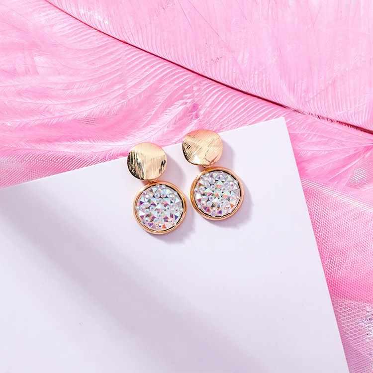 2 couleurs nouvelle mode tempérament sauvage fille coeur boucles d'oreilles bijoux Europe cristal de swarovski femmes et femmes