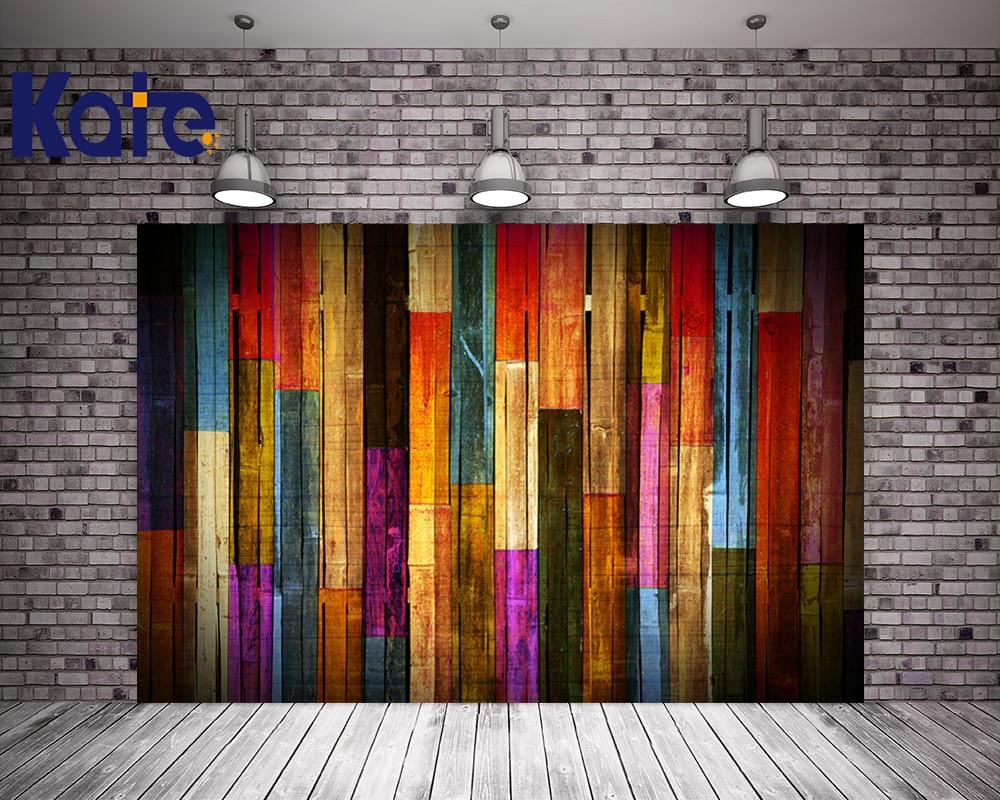 Kate Wood Wall Theme Photo Studio Backdrop Colorful Wood Retro Photography Studio Backgrounds Photo Backdrop сумка kate spade new york wkru2816 kate spade hanna