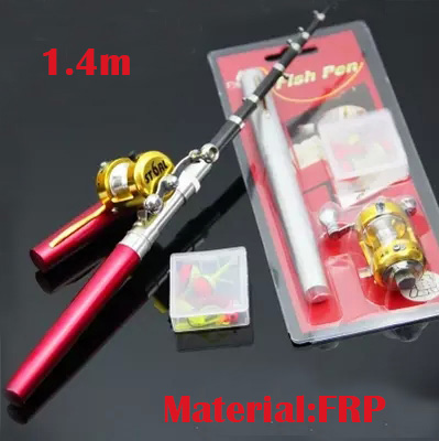 1.4m Mini Portable pocket Pen fishing <font><b>rod</b></font> Raft fishing ice fishing telescopic fishing <font><b>rod</b></font>