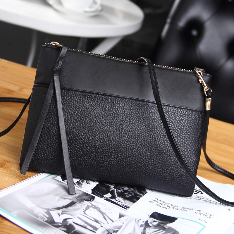 EFFLOM Korean Style Women Crossbody Bags Small PU Leather Shoulder Messenger Bag For Mobile Phone Clutch Fine Leather Sling Bag 2017 fashion all match retro split leather women bag top grade small shoulder bags multilayer mini chain women messenger bags