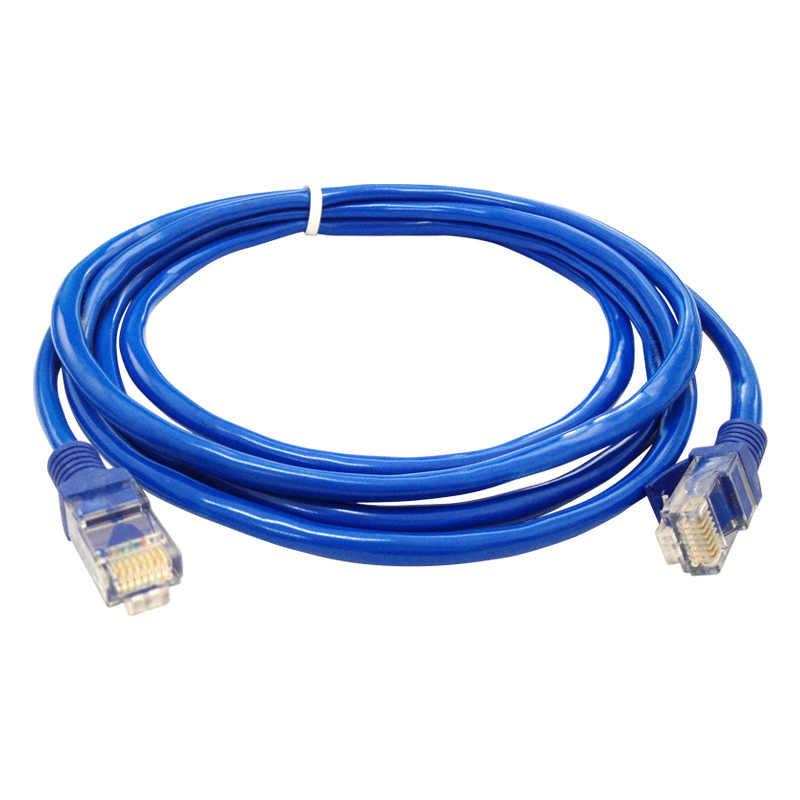 2019 אוניברסלי כחול האינטרנט Ethernet LAN CAT5e רשת כבל עבור מחשב מחשב אביזרי מודם נתב מחברת למעלה מכירה