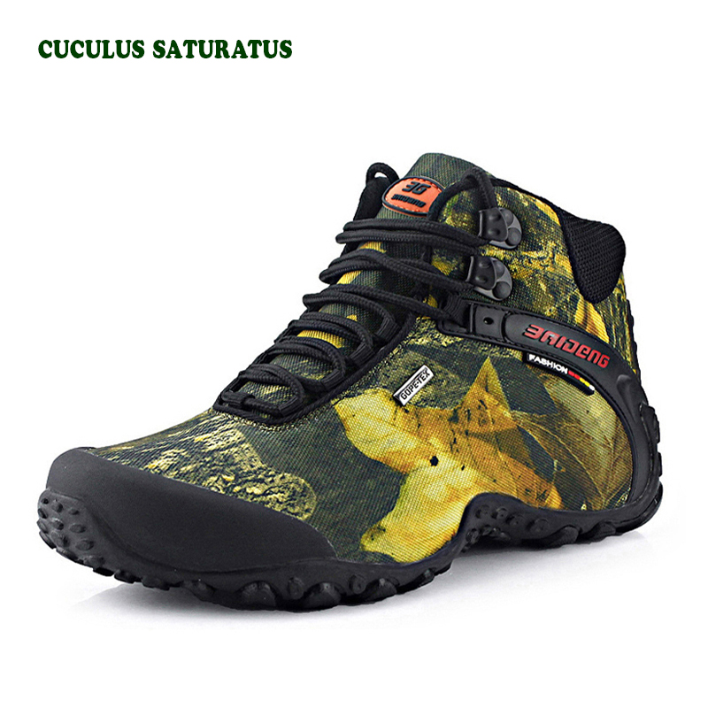 New Outdoor Fun & Sports Mountain Trekking Shoes Hunting Boots Leather Waterproof Hiking Shoes Men Boot 8069