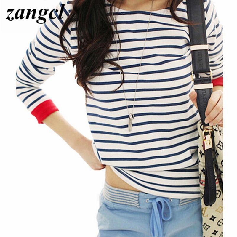Zangcl High Quality Women Tops O Neck T Shirt Long Sleeve