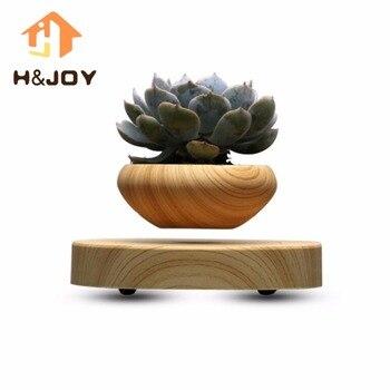 Pot de fleur Japonais Magnétique Lévitation Air Flottant Bonsaï Mini-Pot De Fleur En Plastique Ciel Pot Plante Succulente Pot pour Decoration
