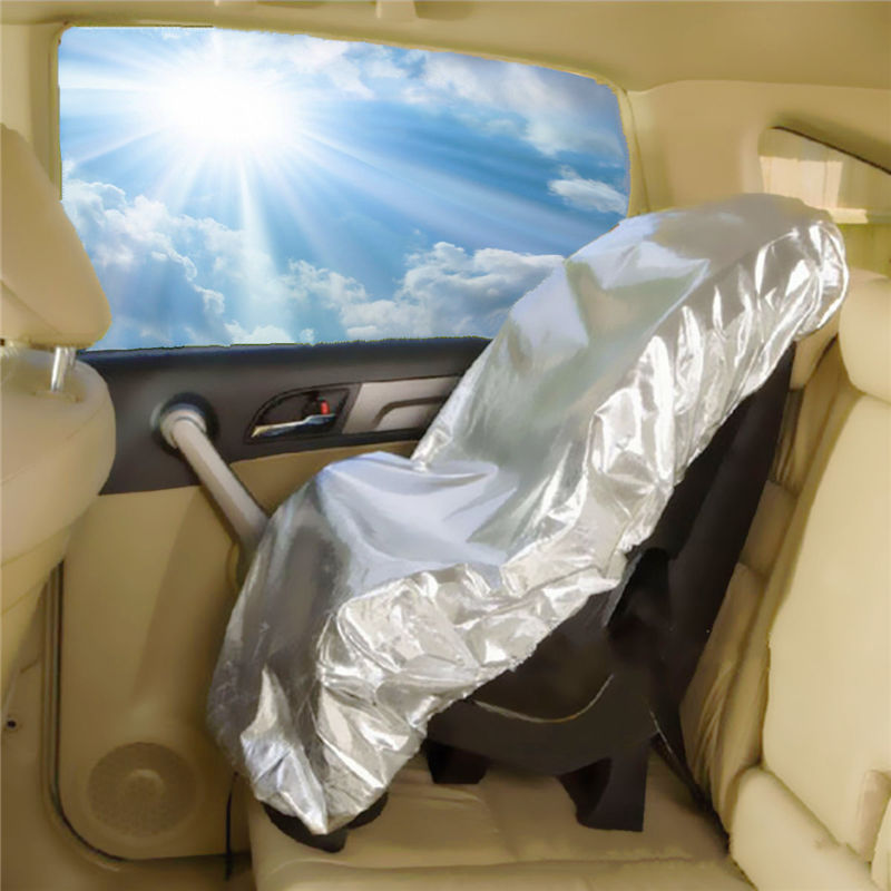 new silver aluminium film baby kids car safety seats sun shade sunshade uv rays protector cover. Black Bedroom Furniture Sets. Home Design Ideas