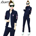 Plus Size M-XXXL 2017 New Spring Autumn Tracksuit Women's 2 Piece Set Zipper Jacket + Pants Casual Letter Printed Suits Female