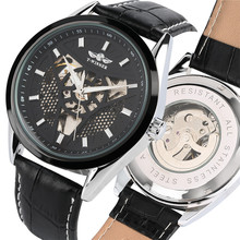 Automatic Watches Skeleton Mechanical Watch Men Self Winding Tevise Steampunk Watches Mens Leather Band Clock Male reloj hombre bosck mechanical watches men skeleton gold watch automatic mechanical mens watches waterproof self winding clock stainless steel