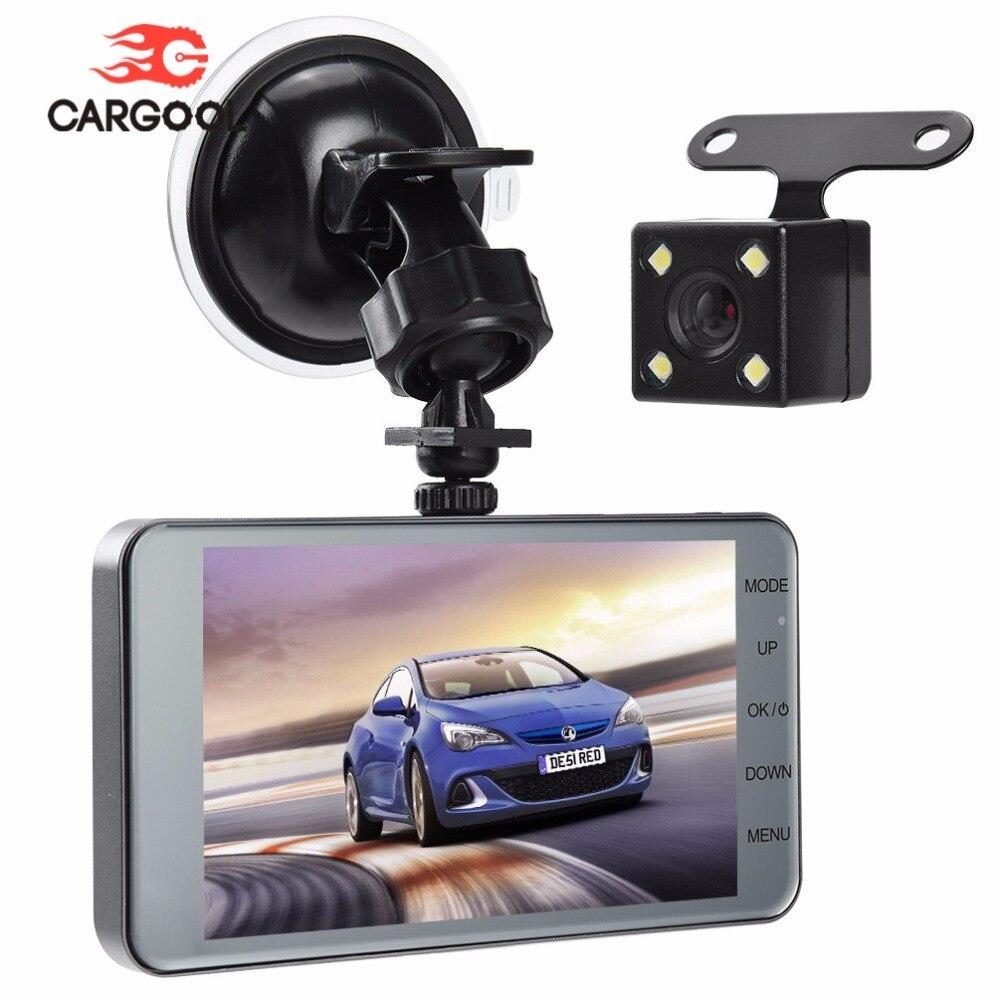CARGOOL 1080P Car DVR Full HD Dash Cam Front Rear Dashboard Camera Loop Recording Car Recorder 140 Degree G sensor Night Vision цена