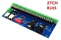 Bán buôn 27CH Kênh với RJ45 9 nhóm max 3A DMX512 XPL 3 P LED Decoder điều khiển cho DC12V-RGB led module strip lights