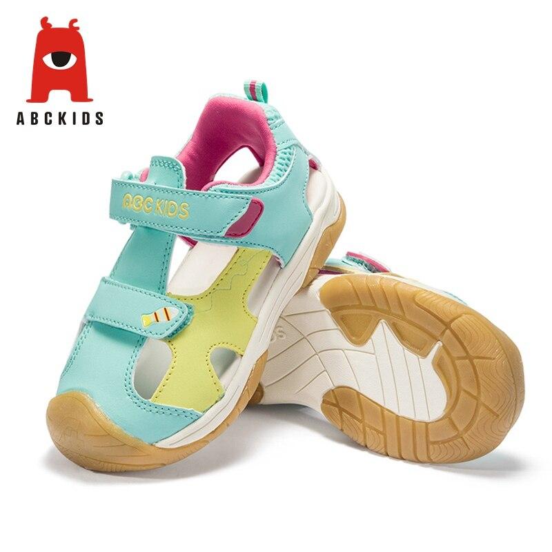 Abckids printemps été unisexe chaussures à imprimé antidérapant baskets à bout fermé pour garçons filles marque enfants chaussures