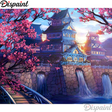 Dispaint Full Square/Round Drill 5D DIY Diamond Painting Castle floor scenery3D Embroidery Cross Stitch Home Decor Gift A12678