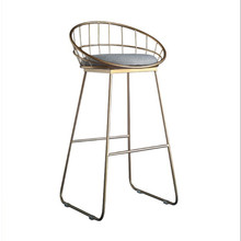 Chair Gold Bar-Stool Modern Wrought-Iron-Bar Nordic Leisure Simple 75/85cm