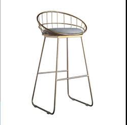 H ровные цилиндры стул Кованое железо стул золото высокий стул современный обеденный стул железный стул отдыха Nordic барный стул 45/65/75/85 см