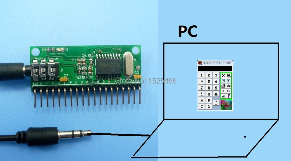 US $16 99  16 Channel DTMF MT8870 Audio Decoder Phone Voice Decoding  Controller for Smart Home Automation Relay Module-in Integrated Circuits  from