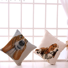 Hound Dog Cotton Cushion Cover