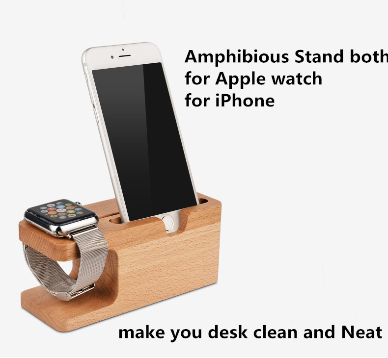 Luxury Wood Wooden Portable Office Desk Home Table Stand SmartPhone Holder  For IPhone 6S Plus 6 5C For Apple Watch 38u002642mm In Mobile Phone Holders U0026  Stands ...