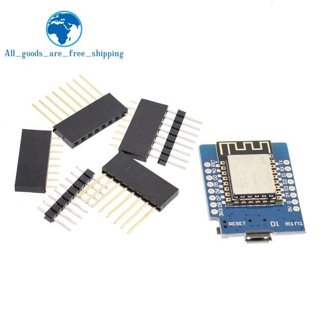 ESP8266 ESP-12 ESP12 WeMos D1 мини-модуль Wemos D1 Мини Wi-Fi развитию Micro USB 3,3 V на основе ESP-8266EX 11 цифровой контакт