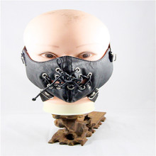 10pcs/Pack New Punk Snowboard Face Mask Training Sleeves Dust Masks Rivet Realistic-masks Elevation Motorcycle Face Mask