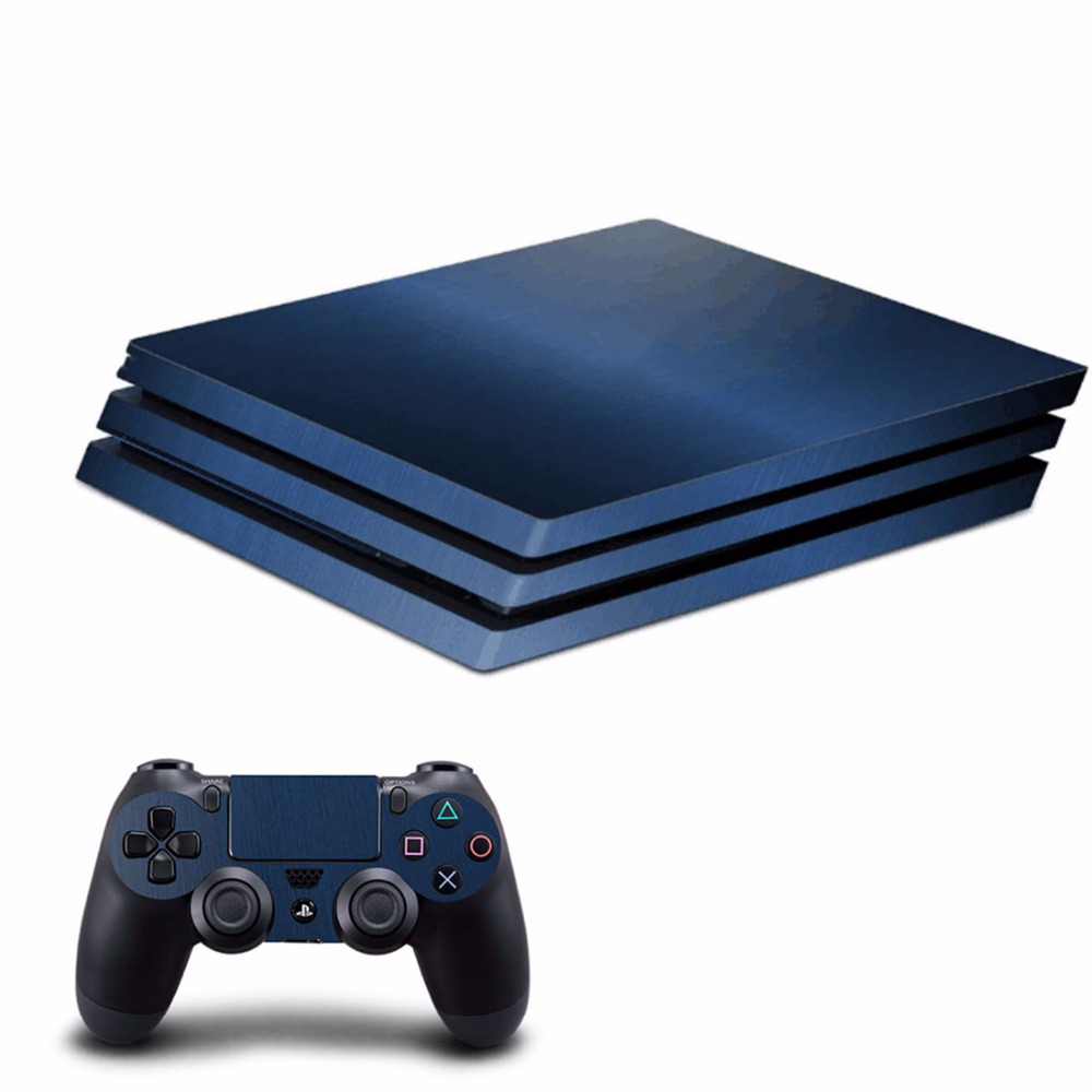 OSTSTICKER Blue Metal For Sony PS4 Pro For Playstation 4 Pro Vinyl Skin Sticker Cover Decal