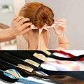 Мода волшебные инструменты пена губка быстрые грязный пончик булочка прическа девушки женщины луки группа аксессуары шелковый повязка на голову TS-4