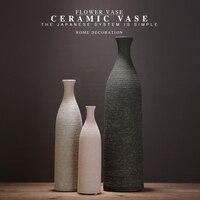 Direct Selling Chinese Jingdezhen Porcelain Vases Creativity Coarse Pottery Modern Ceramic Vases for Wedding Home Decoration 7