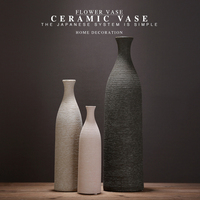 Direct Selling Chinese Jingdezhen Porcelain Vases Creativity Coarse Pottery Modern Ceramic Vases for Wedding Home Decoration 7