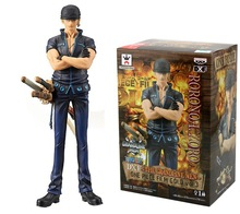 Anime Figure One Piece GOLD Roronoa Zoro Kids Toys PVC Action Figure Boxed Brinquedos Figuras Anime Collectible 16cm zy050