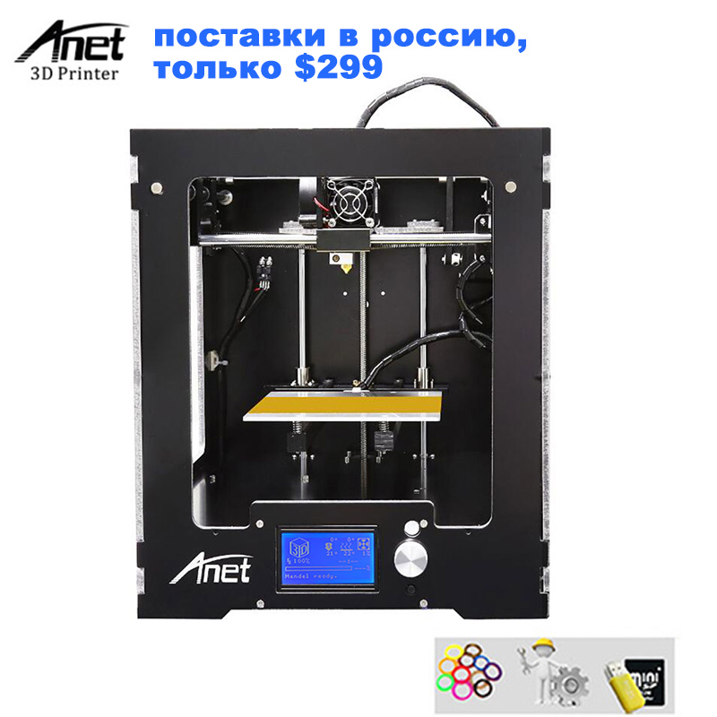 цена на Anet A3S 3d Printing Machine Full Metal Frame Modular Design High Precision FDM Desktop i3 DIY 3D Printer With SD Card for Gift