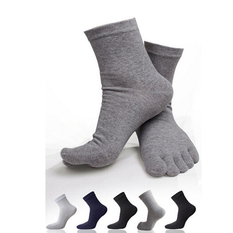 Cute Womens Mens Breathable Comfortable Compression Comfort 5 Finger Toe Socks
