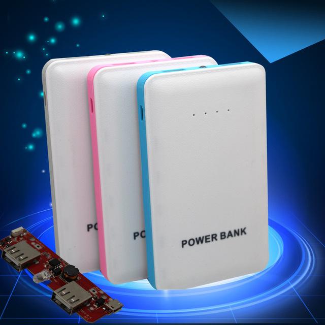 LED de luz de flash 8000 mAh dual USB banco de Energía de respaldo batería externa de Polímero de carga Portátil Universal para tablet y Móvil teléfono