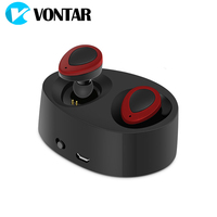 Vontar K2 TWS Mini Portable Earbuds Twins Earphone Bluetooth Wireless Headphone With Battery Box Noise Cancel
