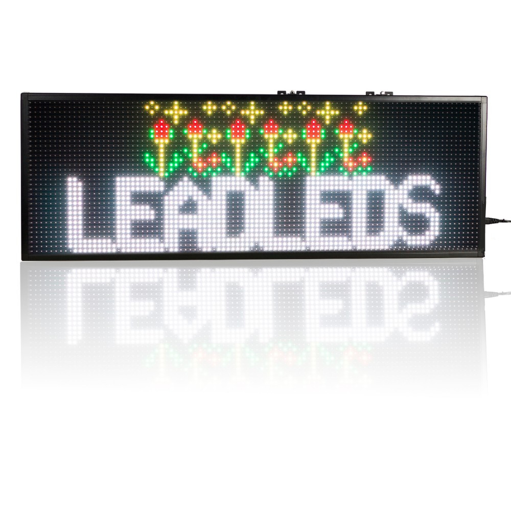 30 x11insh RGB SMD Full Color USB Programmable LED Sign 1-4 Lines Running  Message For your shop, window advertising propaganda