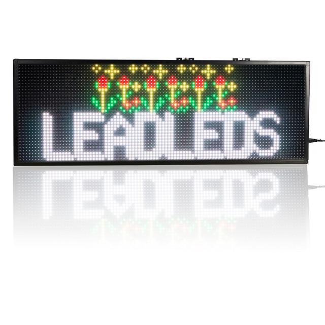 30 x11insh SMD RGB Full Color USB Programável LEVOU Mensagem de Sinal 1-4 Linhas de Execução Para sua loja, janela de publicidade propaganda