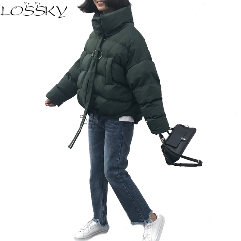 2017 Winter Female Outerwear Women Wadded Jacket Woman Cotton-padded Bread Service Casual Coats New Fashion Plus Size Clothing lstu winter jacket women 2017 fashion cotton padded hooded jacket female wadded jacket outerwear winter coat women