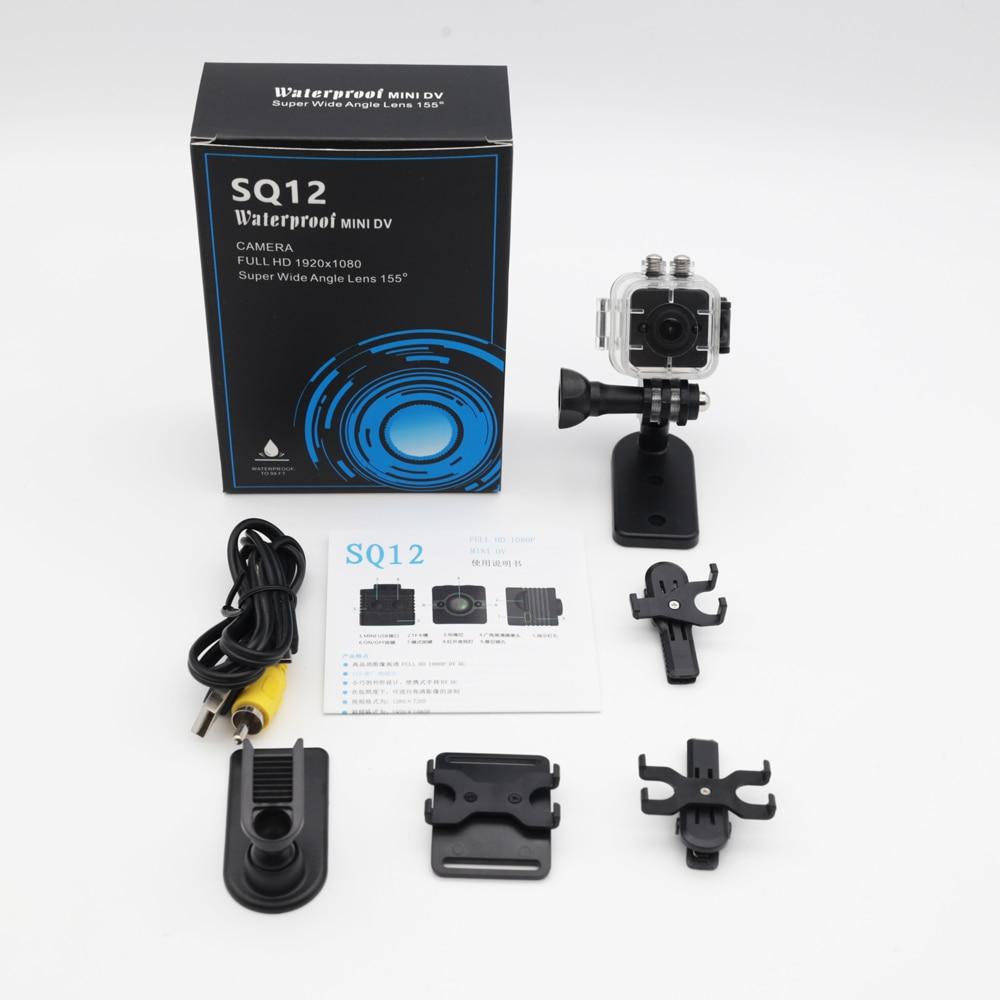 100% Original SQ11 SQ12 HD 1080P Wide Angle Waterproof MINI Camcorder DVR Mini video camera Sport camera PK SQ9 SQ 11 SQ 12