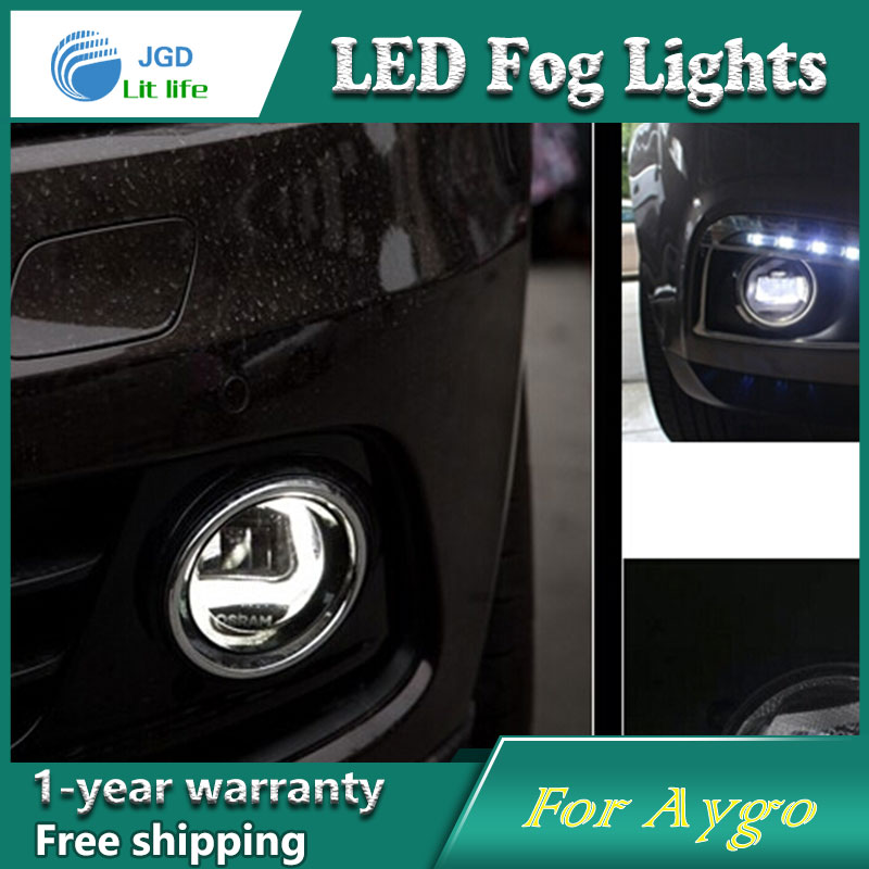 цена на Super White LED Daytime Running Lights For Toyota Aygo Drl Light Bar Parking Car Fog Lights 12V DC Head Lamp