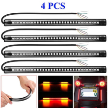 4 X 8 Motorcycle 48 LED Brake Stop Turn Signal Tail Light Strip Bar