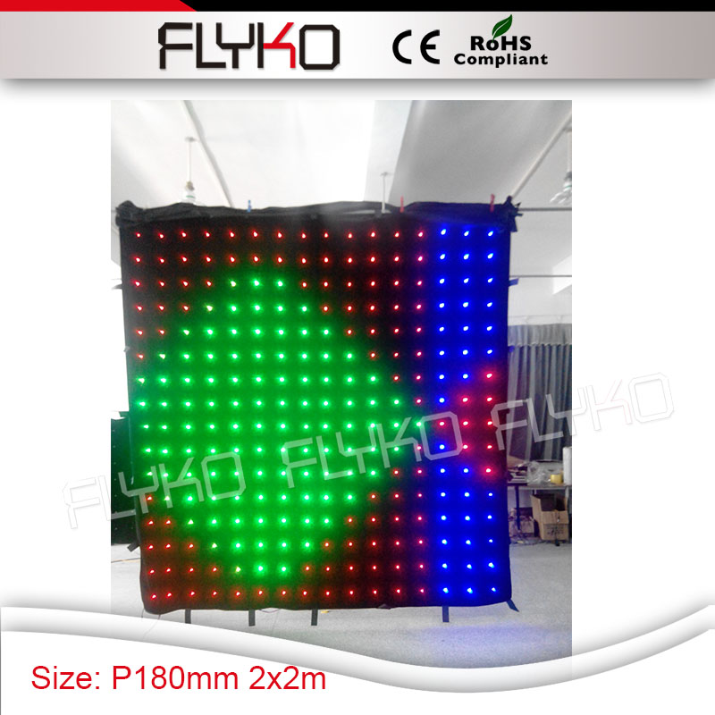 P18 2X2M customized size free shipping display animations led video curtain