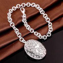 Fina del verano del estilo de plata chapada pulsera 925-sterling-silver joyería bijouterie rahmen pulseras de cadena para mujeres hombres SB348