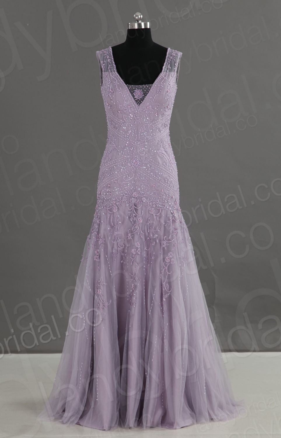 Small Of Lavender Wedding Dress