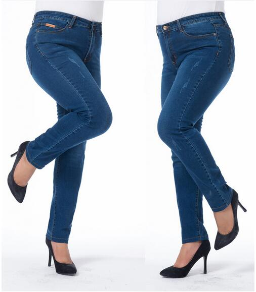 New Fashion Spring Autumn Women Jeans Plus Size Stretch Skinny High Waist Jean Pant Woman Blue Pencil Casual Slim Denim Pants rosicil women jeans plus size stretch skinny high waist jeans pants women blue pencil casual slim denim pants top 003