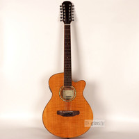 flame maple top 12 string acoustic electric guitar with free string with EQ
