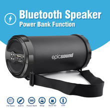 2000mAh Portable Bluetooth Speaker Power Bank Tube Bass Charge Speaker for Mobile Phone PC With TF Card/FM Radio/Aux/Strip/USB 10w portable column bluetooth speaker touch control wireless bass speaker with mic fm radio tf card u disk aux for iphone pc