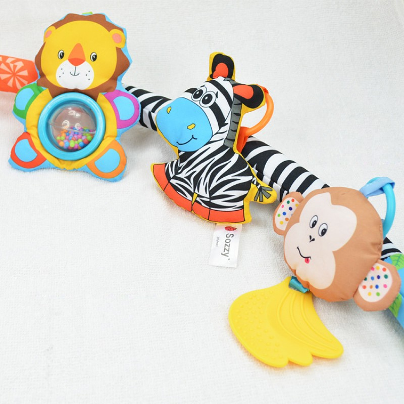 Baby Rattles Educational Toys For Infant Baby Kids Teether Toddler Bed Bell Children Playing Bedroom Toy Hanging Stroller Dolls