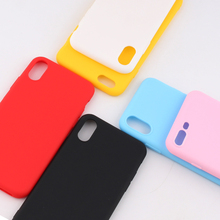 Color Phone Cases For iPhone 6 6s 7 8 plus Case Cover Soft Transparent Silicone X XS MAX 5 5S SE case phone