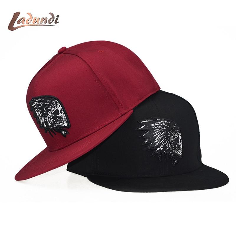 Embroidery Skull   baseball     caps   hats hip hop snapbacks flat brim bones gorra sports snapback   caps   for men women unisex
