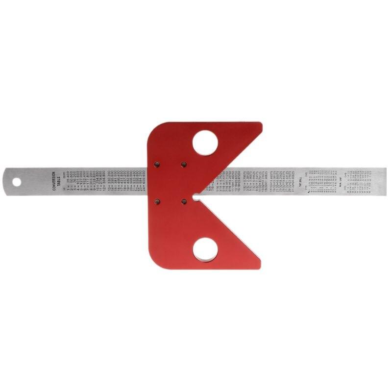 Center Line Drawing Ruler Gauge Carpenter Layout Tool