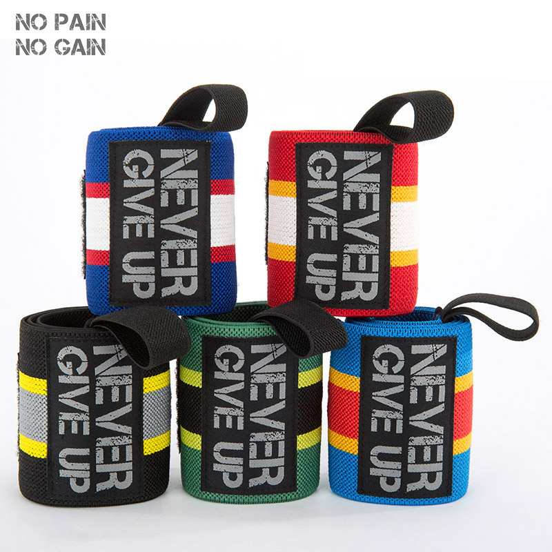 NO PAIN NO GAIN Wrist Support Adjustable Sport Fitness Professional Bandage Wrist Protect Weightlifting Wrist Straps SUPERHW60